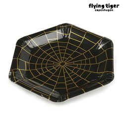 스파이더 거미줄 종이제 접시(8pcs) 3017965