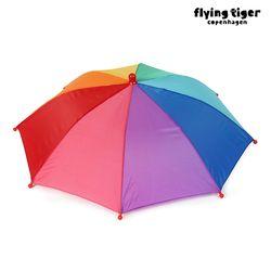 머리에 쓰는 레인보우 우산 3006764