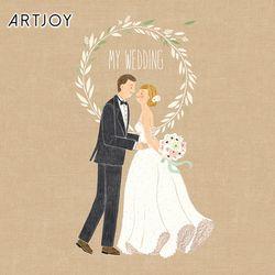 아트조이 DIY 명화그리기 나의 꿈꾸는 결혼식 20x20cm