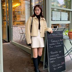 tin wool short handmade coat