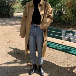 moia big pocket wool handmade coat