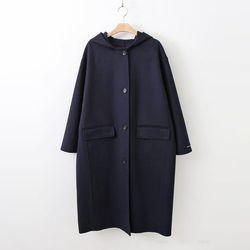 Handmade Wool Hood Long Coat - 한정수량