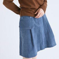pocket detail corduroy skirts (2colors)