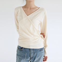 wrap tension loose tee (3colors)