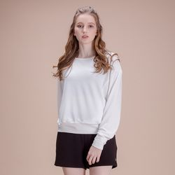 DURAN 루즈핏 긴팔 티셔츠 DAW-TL5029 화이트