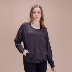 DURAN 루즈핏 긴팔 티셔츠 DAW-TL5029 그레이
