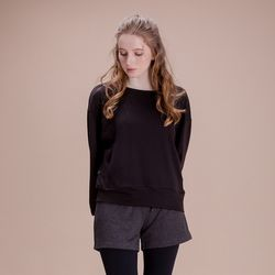 DURAN 루즈핏 긴팔 티셔츠 DAW-TL5029 블랙