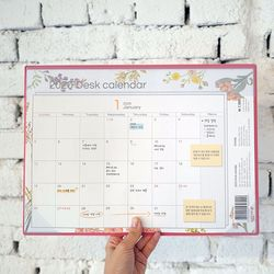 2020 Mercibloom Desk Calendar