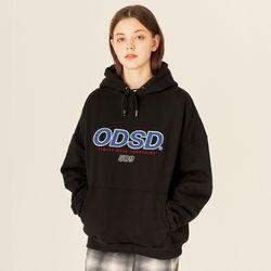 ODSD 로고 후드 티셔츠 - BLACK