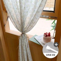 까르데코 앨리스 옐로부케 창문 가리개커튼+봉포함