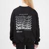 웨이브 맨투맨 티셔츠 - BLACK