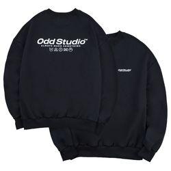 베이직 맨투맨 티셔츠 - BLACK