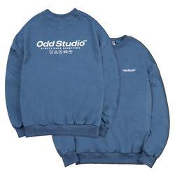 베이직 맨투맨 티셔츠 - DUST BLUE
