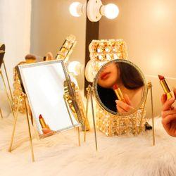 골드 메탈 스탠드 거울