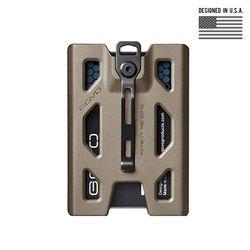 [고보] T4 폴리카보네이트 배지 홀더 지갑 (TAN)