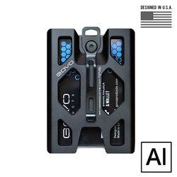 [고보] T4 알루미늄 배지 홀더 지갑 (블랙)
