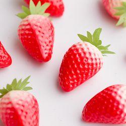 딸기 모형 10개(5cm)
