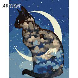 아트조이 DIY 명화그리기 달과 고양이 40x30cm