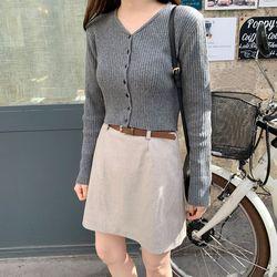 meringue thin belt skirt (s m)