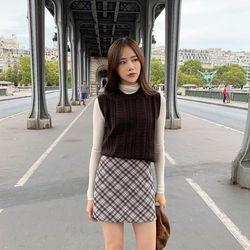 ray check mini skirt (s m)