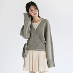 strap forming soft cardigan (3colors)