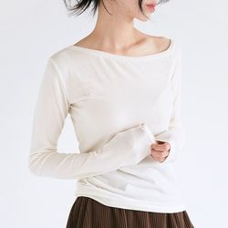 boat neck sheer top (4colors)