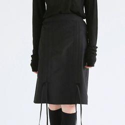 shirring detail dry midi skirts (3colors)