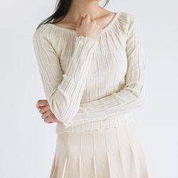 crease detail crop knit (4colors)