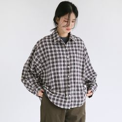 cozy boy check shirts (2colors)