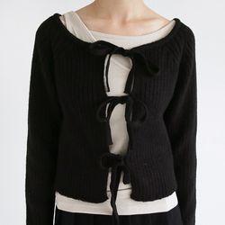 two-way strap crop cardigan (3colors)