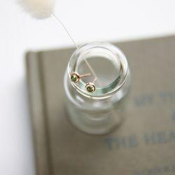 제이로렌 91M01534 8월 탄생석 페리도트 실버 귀걸이