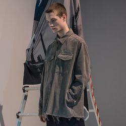 매스노운 SL 로고 오브젝트 코듀로이 포켓 셔츠 MFNST001-GY