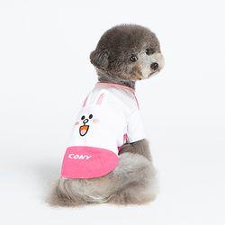 코니 삼단 배색 반팔치셔츠