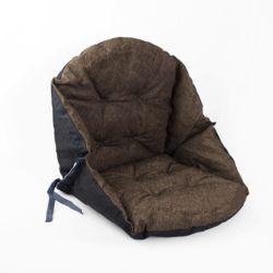 쿠지 의자 등받이방석(다크그레이)