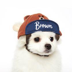 [라인프렌즈] 브라운 볼캡 모자