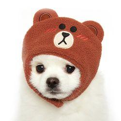 [라인프렌즈] 브라운 커스튬 모자