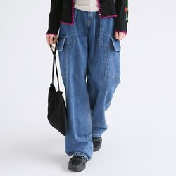 unisex cargo denim pants