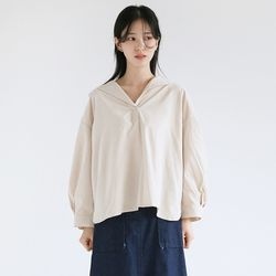 nature collar wide blouse (2colors)