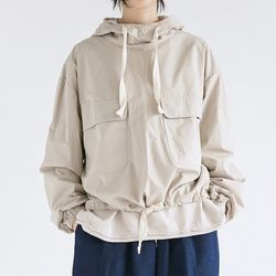 two pocket hood anorak (3colors)