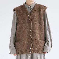 wool texture loose vest (2colors)