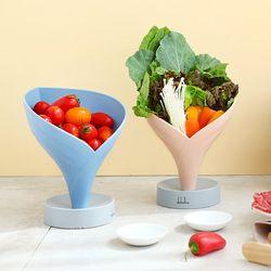 국산 물빠짐 과일 야채 채소 접시 그릇 주방접시