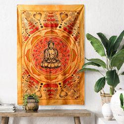 골드 부다 - 태피스트리 패브릭포스터 포스터 76x117cm