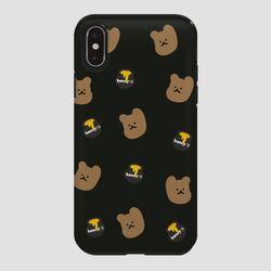 터프 꿀먹는 곰 패턴 다크브라운