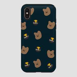 터프 꿀먹는 곰 패턴 네이비