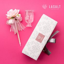 로즈플라워펜 기프트세트 핑크로즈 (플라워펜+화병+선물박스)