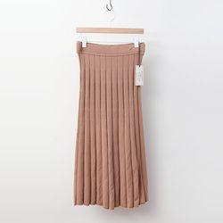 Laine Wool Sparkle Pleats Long Skirt