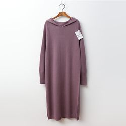 Laine Cashmere N Wool Hood Long Dress
