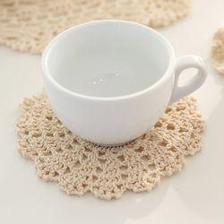 레이스 티 코스터(핸드메이드) 도일리 컵받침 B