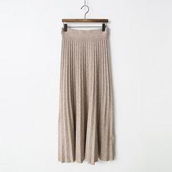 Knit Pleats Long Skirt
