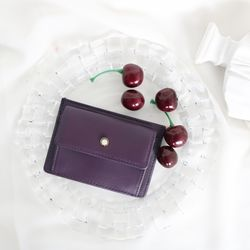 (탄생석지갑) Blumen Pocket Card Wallet - Purple